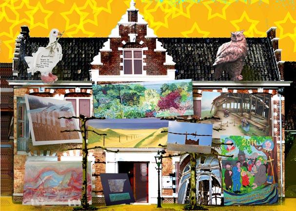 Kunstenaars Collectief Velsen  de  jubileumexpositie KCV 25 jaar en  * iconen en symbolen *